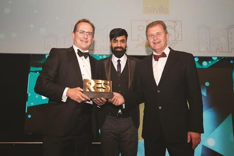 Residential Financier of the Year sponsored by Savills_Oak North Bank_collected on their behalf by Nick Stimpson_MD of Property Week